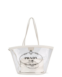 Bolsa tote de goma transparente de Prada