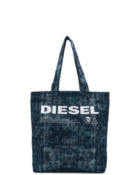 Bolsa tote de lona azul marino de Diesel