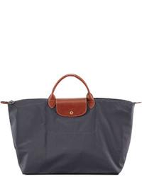Bolsa tote de lona en gris oscuro de Longchamp