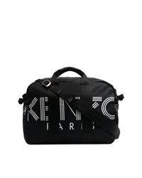 Bolsa tote de lona estampada en negro y blanco de Kenzo