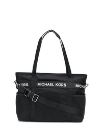 Bolsa tote de lona negra de MICHAEL Michael Kors