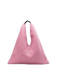 Bolsa tote de lona rosada de MM6 MAISON MARGIELA