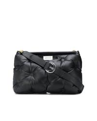 Bolsa tote de nylon acolchada negra de Maison Margiela