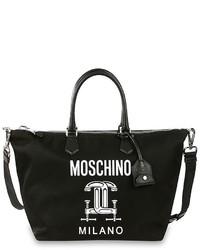 Bolsa tote estampada negra de Moschino