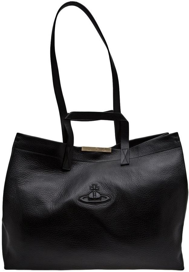 Bolsa tote negra de Vivienne Westwood