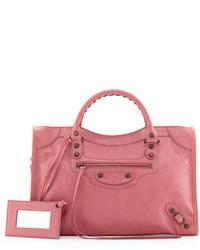 Bolsa tote rosa de Balenciaga