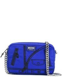 Bolso bandolera azul de Moschino