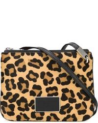 Bolso bandolera de ante de leopardo marrón claro de Marc by Marc Jacobs