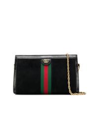Bolso bandolera de ante negro de Gucci