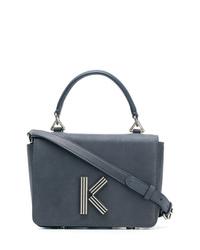 Bolso bandolera de cuero azul marino de Kenzo