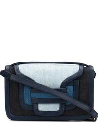 Bolso bandolera de cuero azul marino de Pierre Hardy