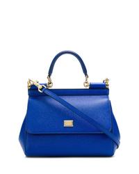 Bolso bandolera de cuero azul de Dolce & Gabbana