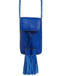 Bolso bandolera de cuero azul de Rebecca Minkoff