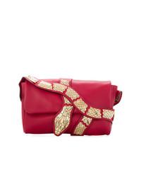 Bolso Bandolera de Cuero con Adornos Rojo de RED Valentino