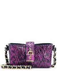 e96a2f624b6 Comprar un bolso bandolera de cuero con print de serpiente rosa ...
