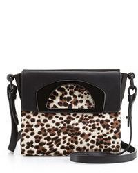 Bolso bandolera de cuero de leopardo marrón claro de Christian Louboutin