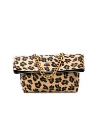 Bolso bandolera de cuero de leopardo marrón claro de Sous les Pavés