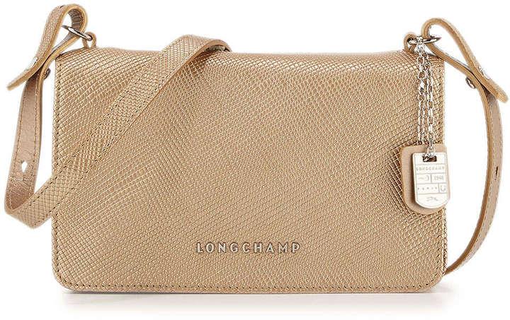 Longchamp Dorado De Bolso Bandolera Cuero CqxRq10w4