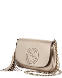... Bolso bandolera de cuero dorado de Gucci ... 24df1120ed1
