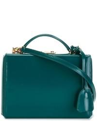 Bolso bandolera de cuero en verde azulado de MARK CROSS