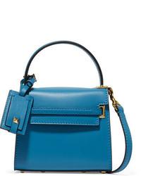 Bolso bandolera de cuero en verde azulado de Valentino