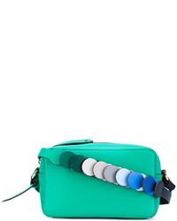 Bolso bandolera de cuero en verde menta de Anya Hindmarch