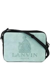Bolso bandolera de cuero en verde menta de Lanvin