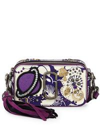 Bolso bandolera de cuero en violeta de Marc Jacobs