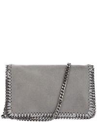 Bolso bandolera de cuero gris de Stella McCartney