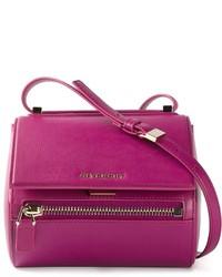 Bolso bandolera de cuero morado de Givenchy