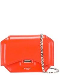 Bolso bandolera de cuero naranja de Givenchy