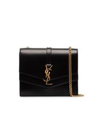 Bolso bandolera de cuero negro de Saint Laurent