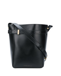 Bolso bandolera de cuero negro de Victoria Beckham