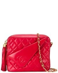 Bolso bandolera de cuero rojo de Chanel
