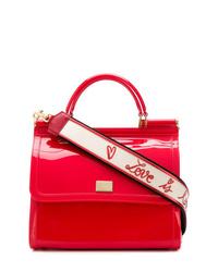Bolso bandolera de cuero rojo de Dolce & Gabbana