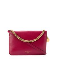 Bolso bandolera de cuero rojo de Givenchy