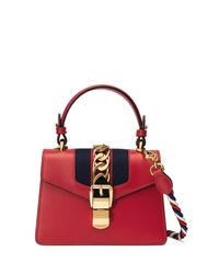 Bolso bandolera de cuero rojo de Gucci