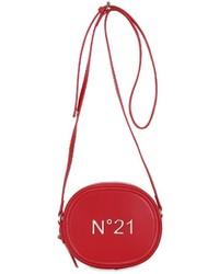 Bolso bandolera de cuero rojo de N°21