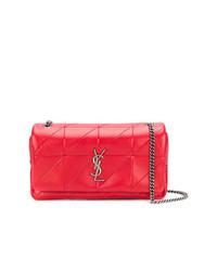 Bolso bandolera de cuero rojo de Saint Laurent