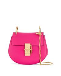 Bolso bandolera de cuero rosa de Chloé