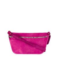 Bolso bandolera de cuero rosa de Guidi