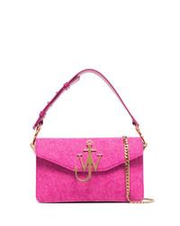 Bolso bandolera de cuero rosa de JW Anderson
