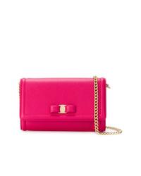 Bolso bandolera de cuero rosa de Salvatore Ferragamo