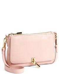 Bolso bandolera de cuero rosado