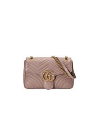 Bolso bandolera de cuero rosado de Gucci