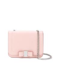 Bolso bandolera de cuero rosado de Salvatore Ferragamo
