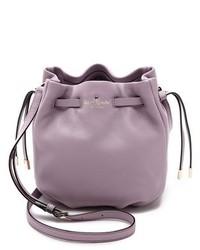 Bolso bandolera de cuero violeta claro de Kate Spade