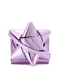 Bolso bandolera de cuero violeta claro de MM6 MAISON MARGIELA