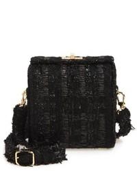 Bolso Bandolera de Tweed Negro