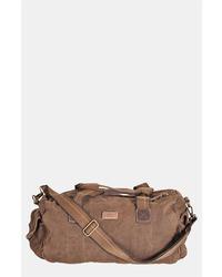 Bolso baúl de cuero en marrón oscuro de Bed Stu